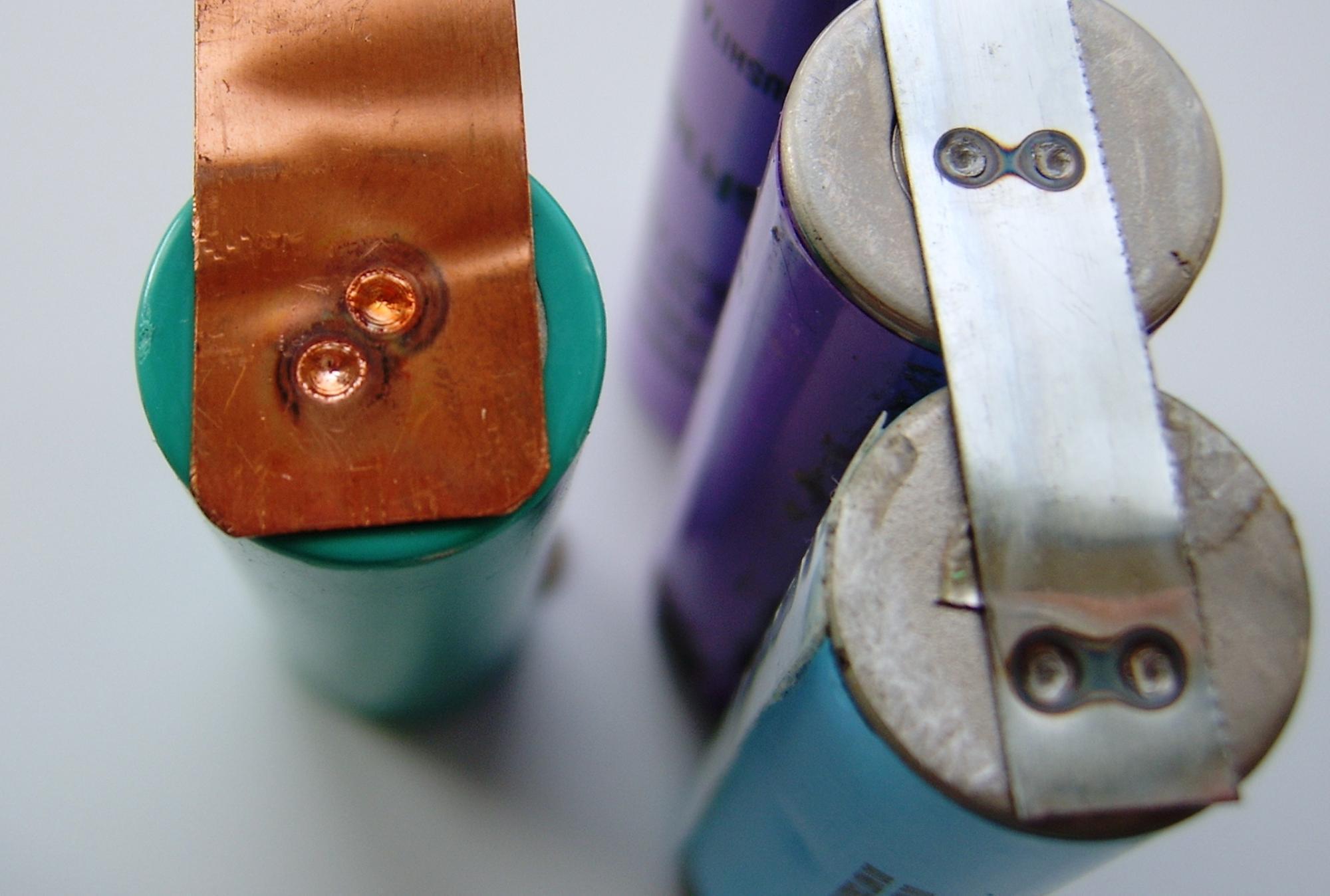 TIG Welding Tabs to Batteries